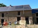 Maison bauge en cours de restauration