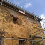 mur bauge avec ciment