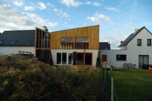 Visite maison ossature bois isolation ouate à Saint-Gilles(35). @ Saint-Gilles (35) @