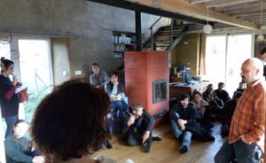 Visite d'un ancien corps de ferme réhabilité (habitat groupé) à Tinténiac(35). @ Tinténiac(35)